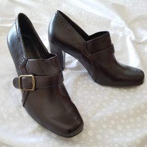 FRANCO SARTO Ulla Dark Brown Anklet Booties NEW